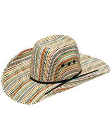 Ariat Kids Multi Color Punchy Straw Western Hat , Natural, hi-res