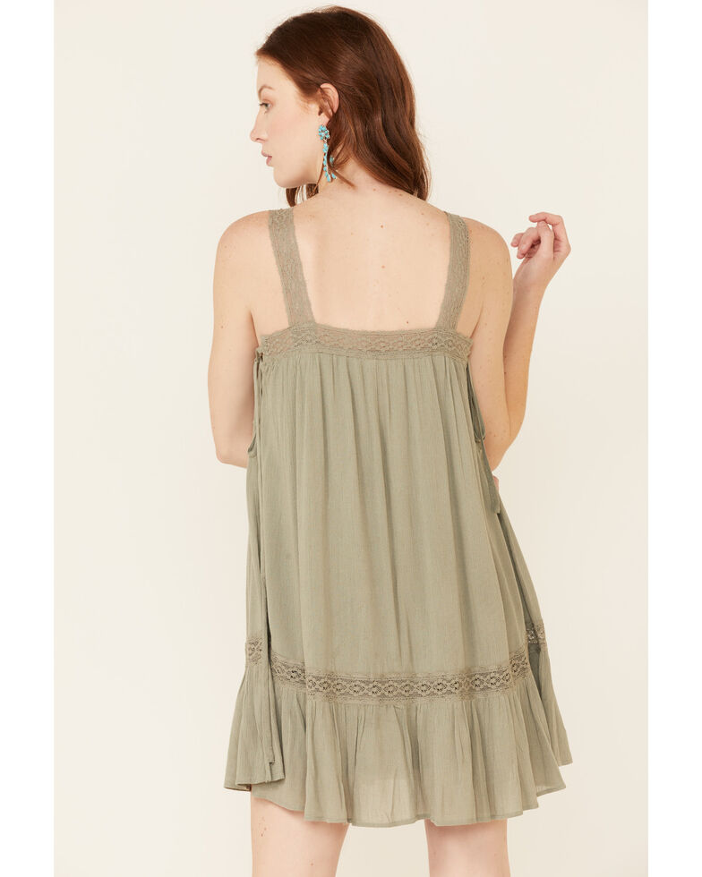 HYFVE Women's Olive Side Tie Sundress, Olive, hi-res