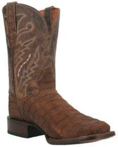 Dan Post Men's Caiman Mickey Western Boots - Wide Square Toe, Tan, hi-res