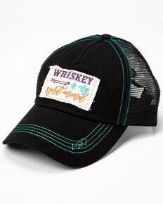 Shyanne Women's Whiskey Is My Spirit Animal Patch Cap , Black, hi-res