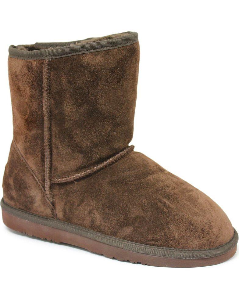 "Dije California Women's 7"" Classic Sheepskin Boots, Chocolate, hi-res"