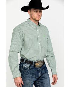 Cinch Men's Cream Geo Print Long Sleeve Western Shirt , Cream, hi-res