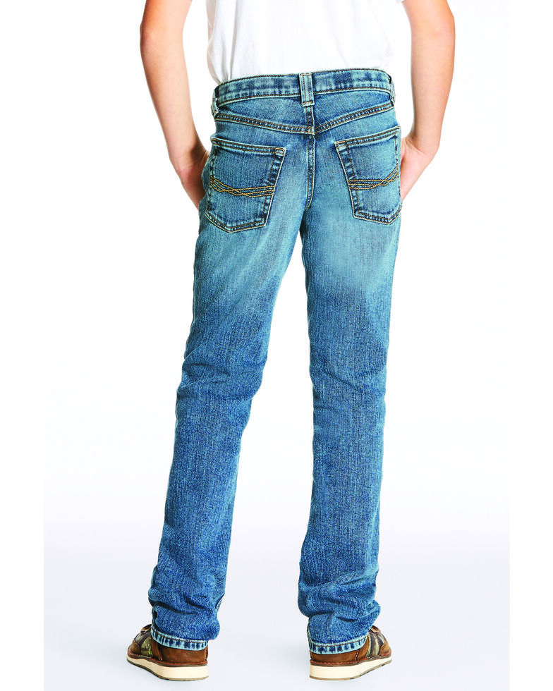 Ariat Boys' B5 Drifter Legacy Denim Slim Straight Jeans , Blue, hi-res
