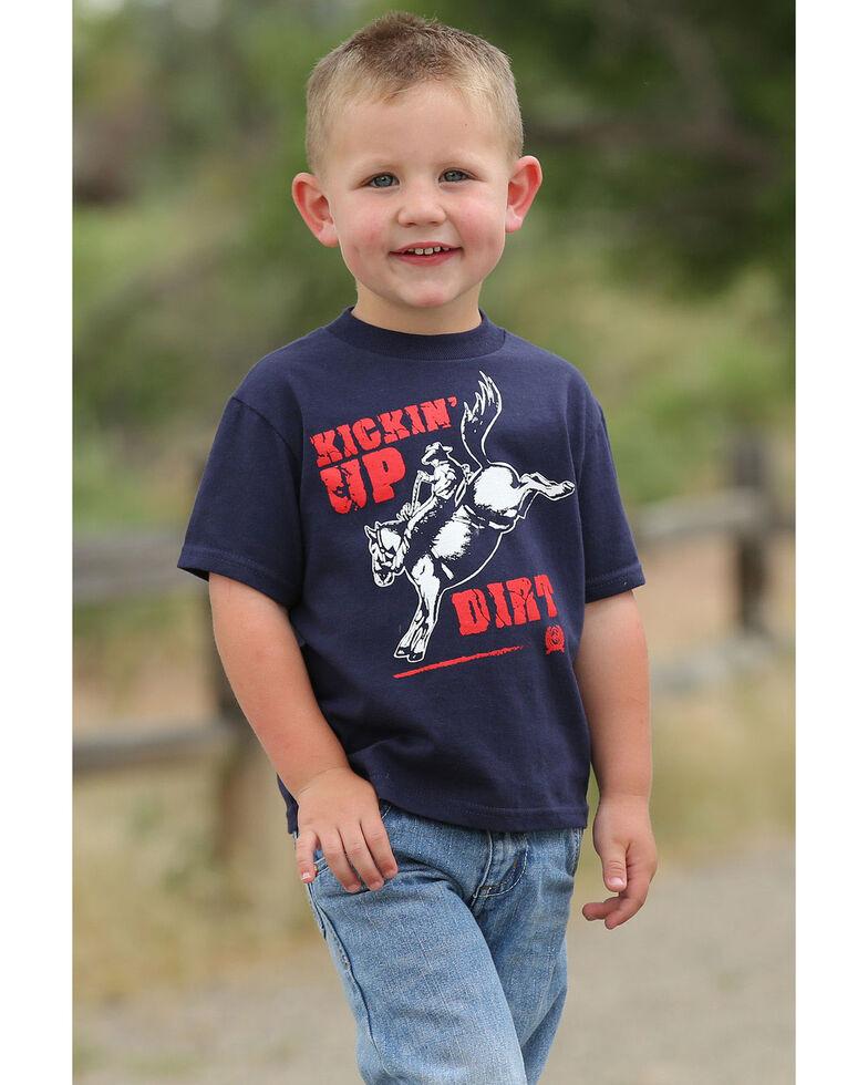 Cinch Toddler Boys' Kickin Up Dirt Rider Graphic T-Shirt , Navy, hi-res