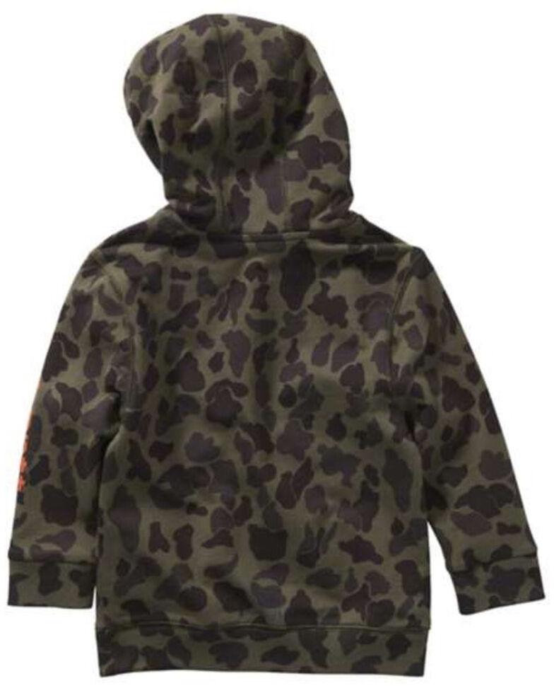 Carhartt Infant Boys' Camo Logo Hooded 1/2 Zip Pullover Sweatshirt , Multi, hi-res