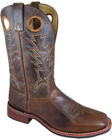 Smoky Mountain Men's Blake Western Boots - Square Toe , Brown, hi-res