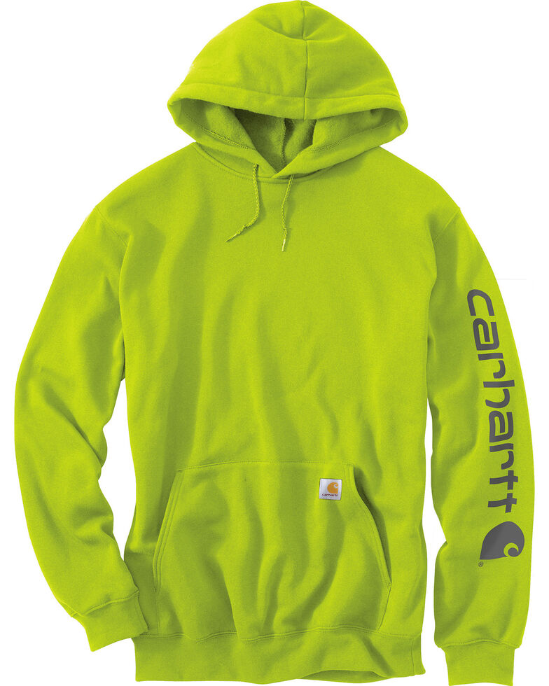 5809f3ddd Zoomed Image Carhartt Men's Midweight Hooded Logo Sweatshirt - Tall ,  Green, hi-res