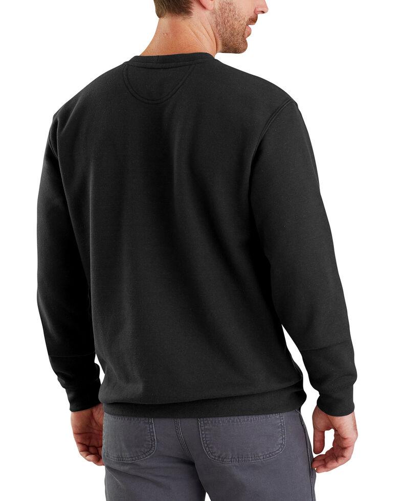 Carhartt Men's Midweight Graphic Crew Work Sweatshirt - Big , Black, hi-res