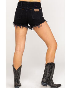Wrangler Modern Women's Black Heritage Frayed Hem Shorts , Black, hi-res