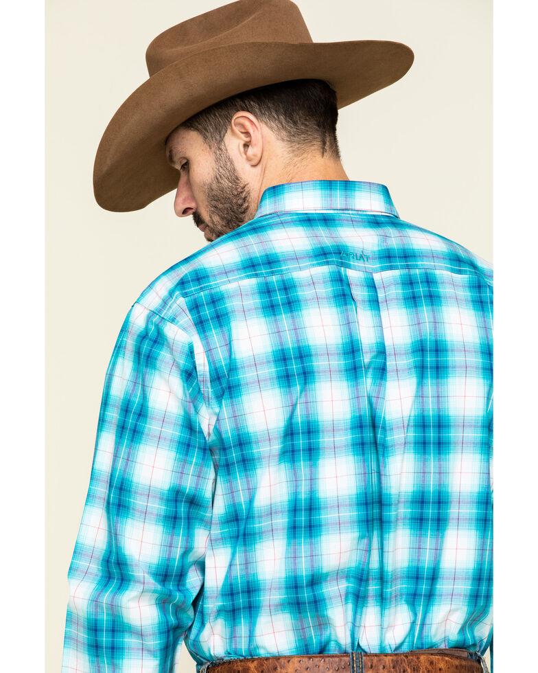 Ariat Men's Somerton Plaid Long Sleeve Western Shirt , Blue, hi-res