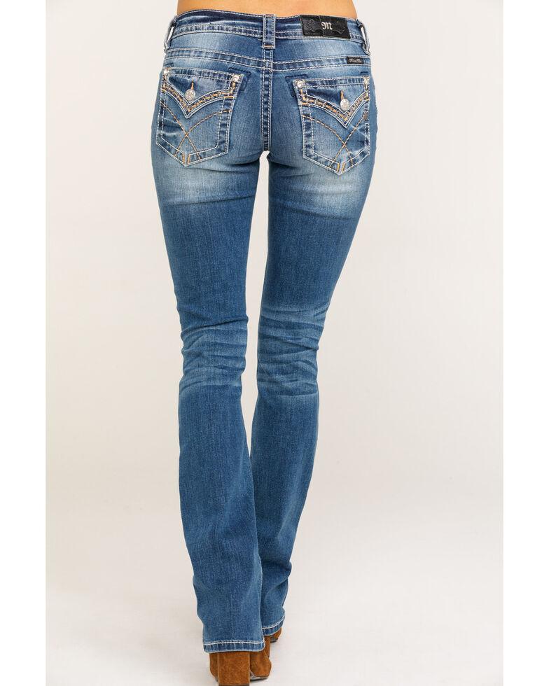 Miss Me Women's Cross Stitch Slim Light Boot Jeans  , Blue, hi-res