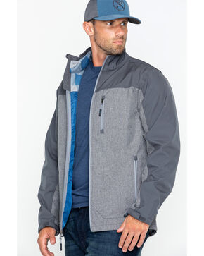 Cody James Men's Flannel Lined Softshell Jacket, Grey, hi-res