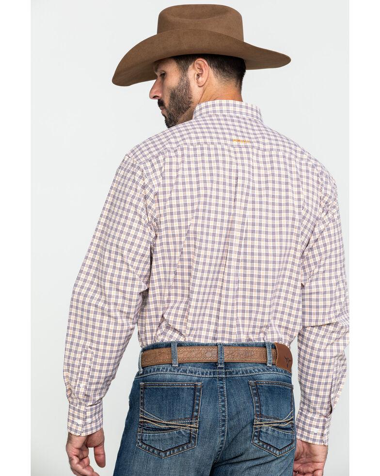 Ariat Men's Fresno Multi Plaid Long Sleeve Western Shirt , Multi, hi-res