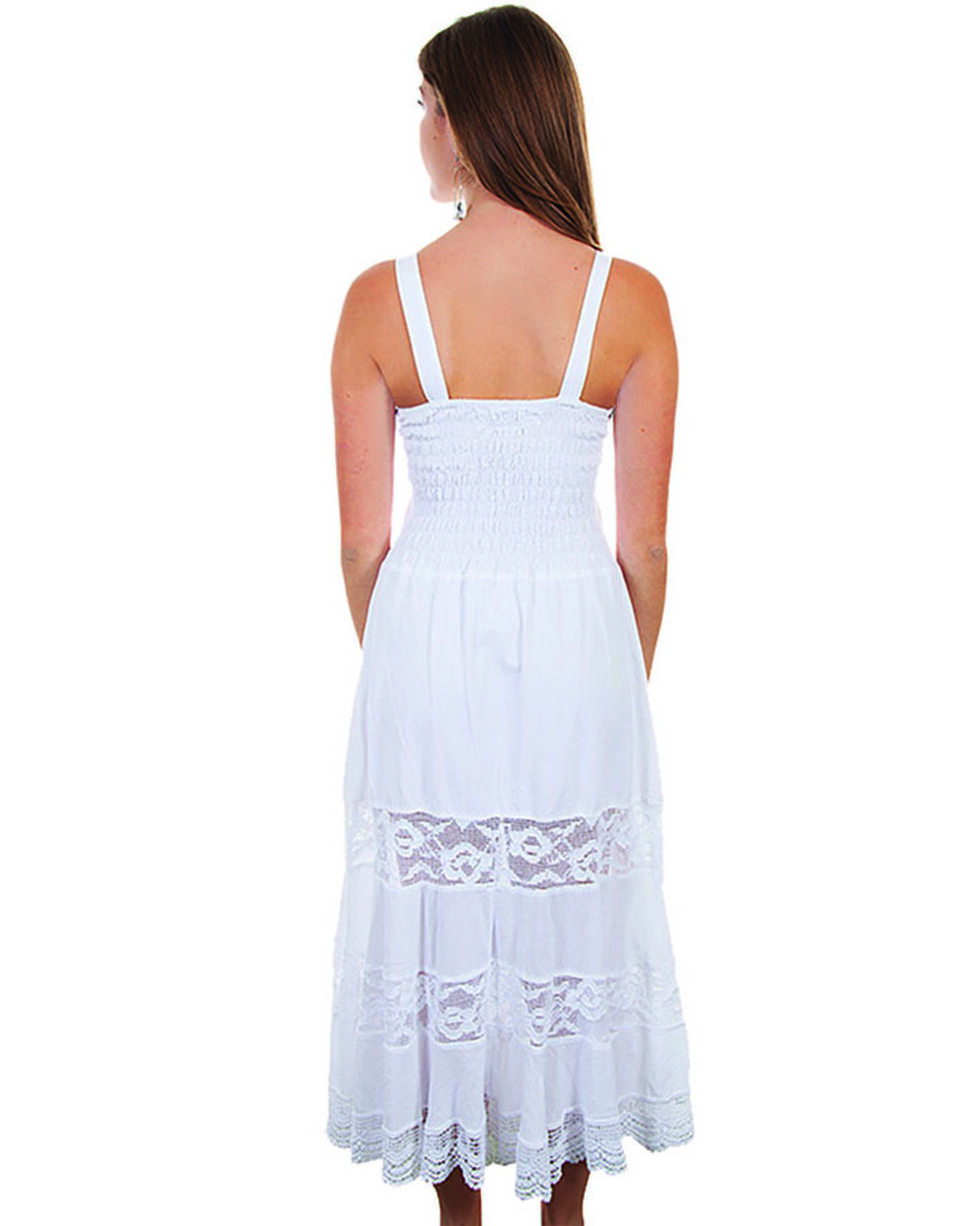 Cantina by Scully Women's White Front Pocket Maxi Dress, White, hi-res