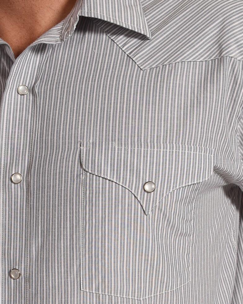 Panhandle Men's Grey Striped Tone On Tone Shirt , Multi, hi-res