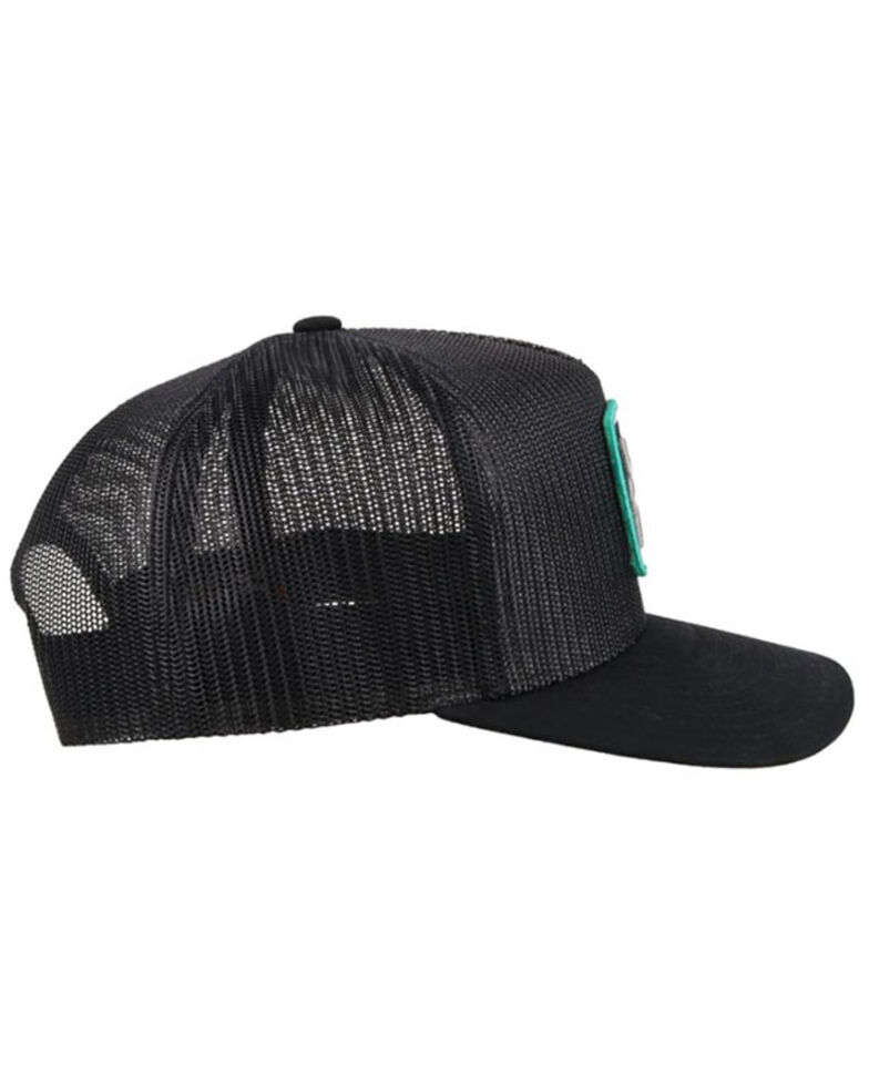 HOOey Men's Zenith Black Logo Patch Mesh Ball Cap , Black, hi-res