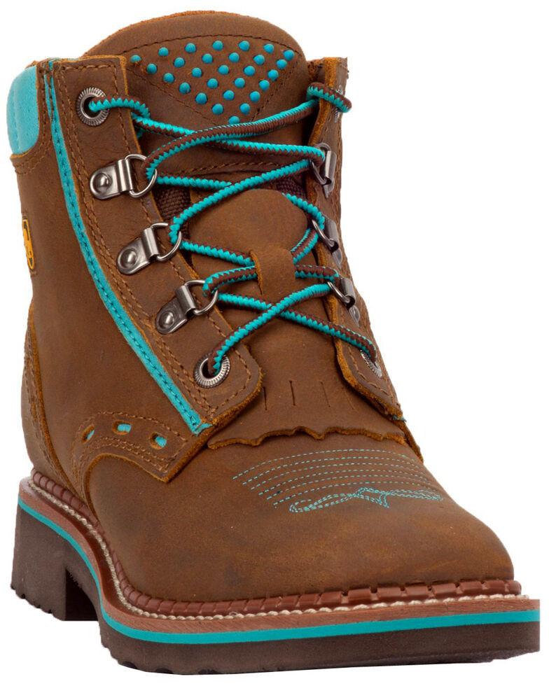 Dan Post Women's Janesville Work Boots - Square Toe, Tan, hi-res