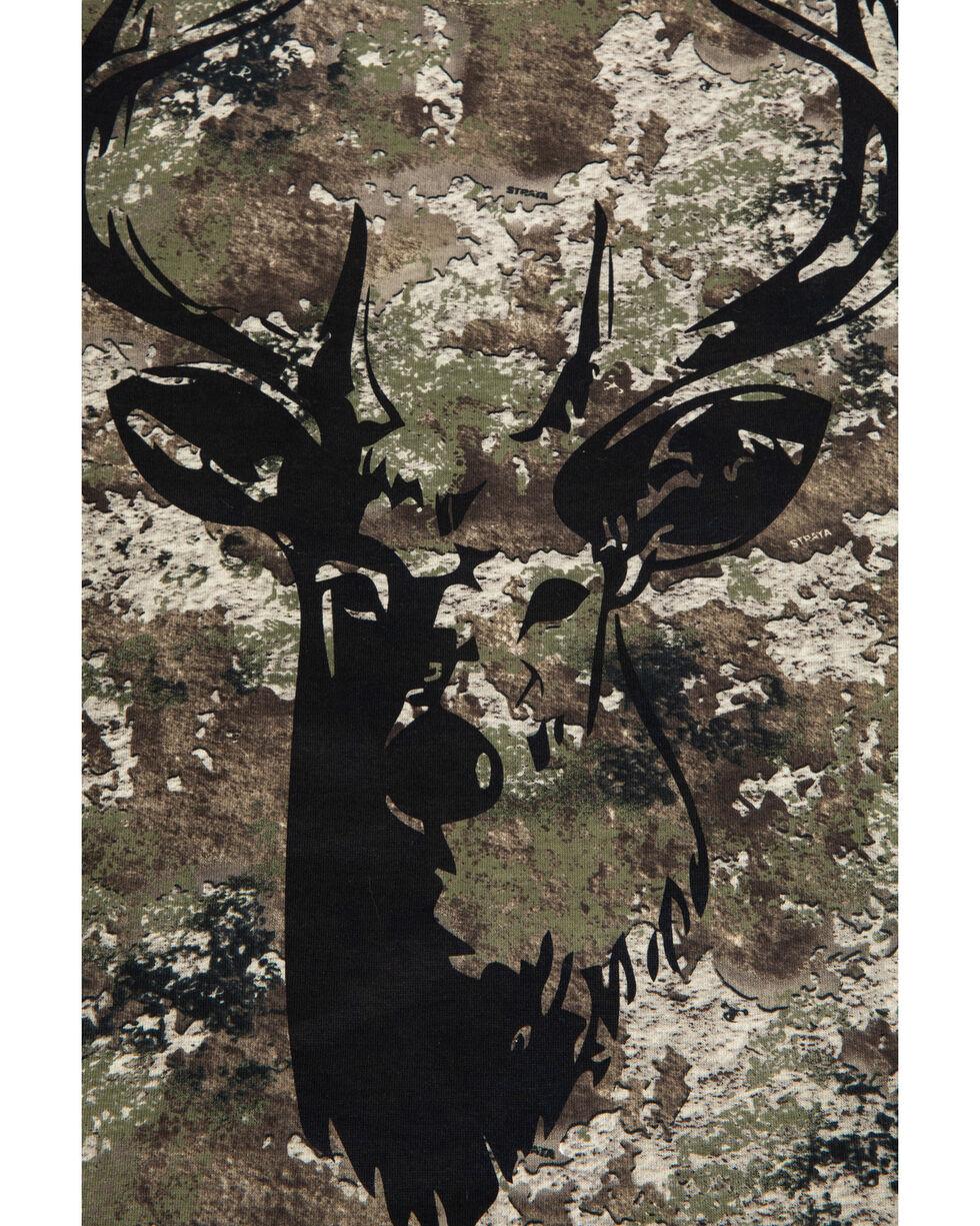 John Deere Boys' Camo Deer Graphic Crew T-Shirt , Camouflage, hi-res