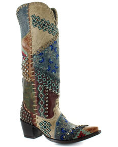 Old Gringo Women's Blow Out Western Boots - Snip Toe, Multi, hi-res