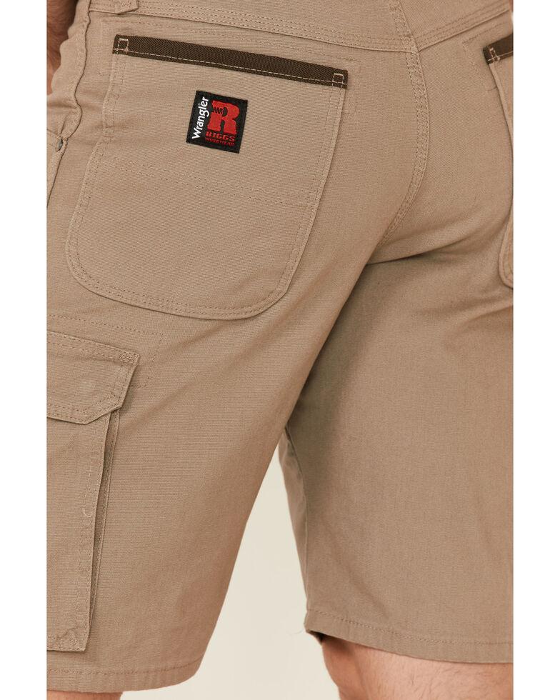 Wrangler Riggs Men's Dark Brown Stretch Relaxed Ranger Work Shorts , Dark Brown, hi-res