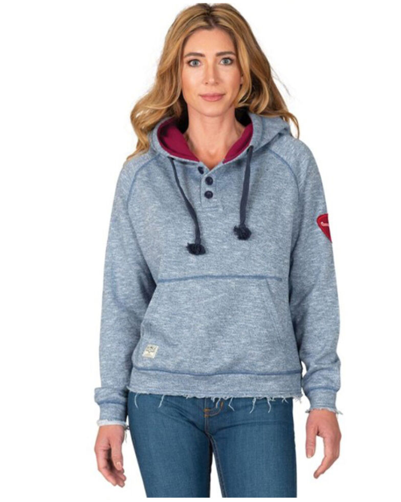 Kimes Ranch Women's Slate Baja Slouch Cut Hooded Sweatshirt , Slate, hi-res