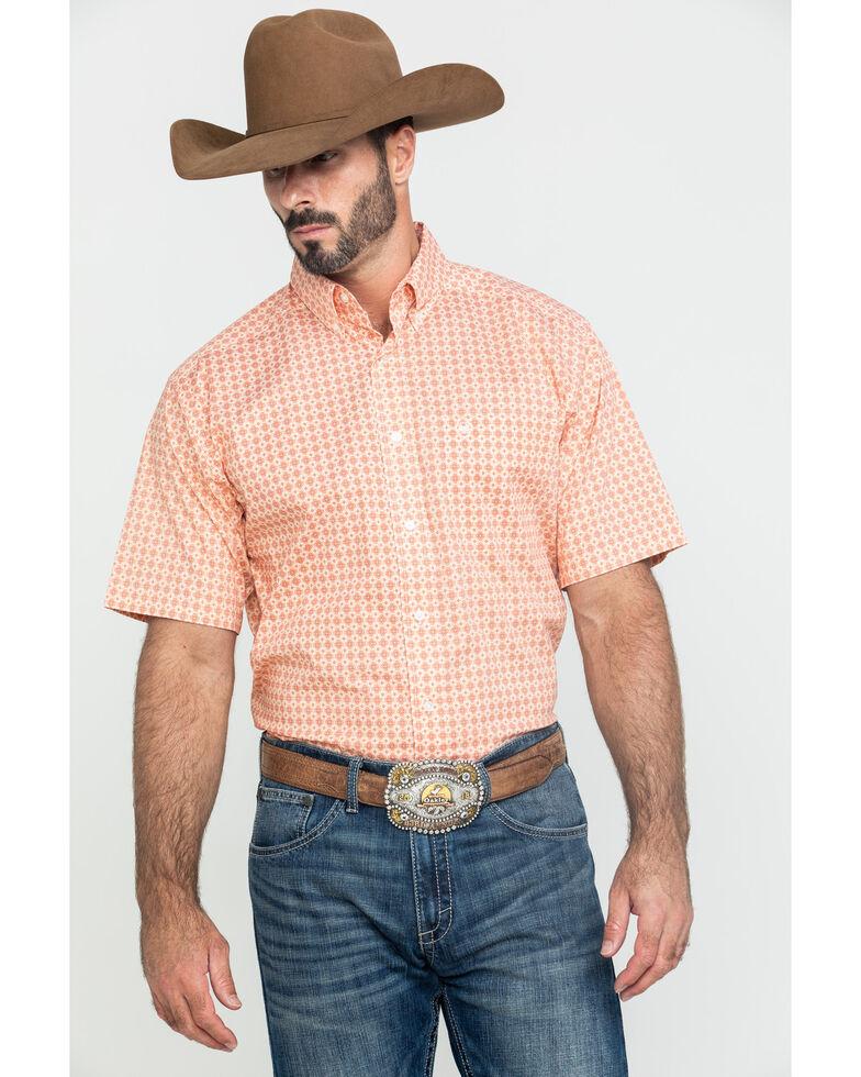 Ariat Men's Fishers Multi Geo Print Short Sleeve Western Shirt , Multi, hi-res