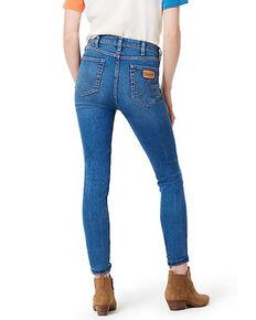 Wrangler Modern Women's Throwback Blue High Rise Skinny Jeans, Indigo, hi-res