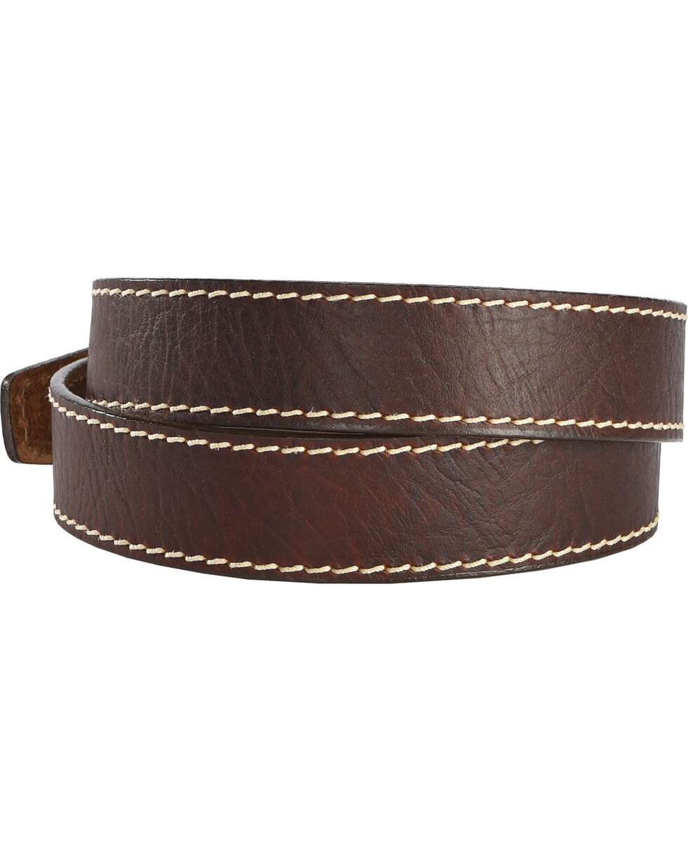 Justin Men's Brown Bison Boulevard Western Belt , Brown, hi-res