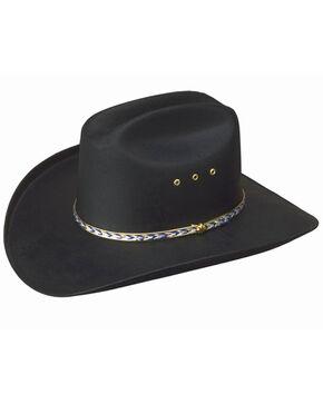 Western Express Men's Black Waterproof Canvas Cowboy Hat, Black, hi-res
