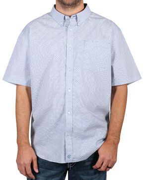 Cody James Men's Button Down Short Sleeve Shirt - Big & Tall, White, hi-res