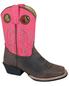 Smoky Mountain Girls' Memphis Western Boots - Square Toe, Brown, hi-res