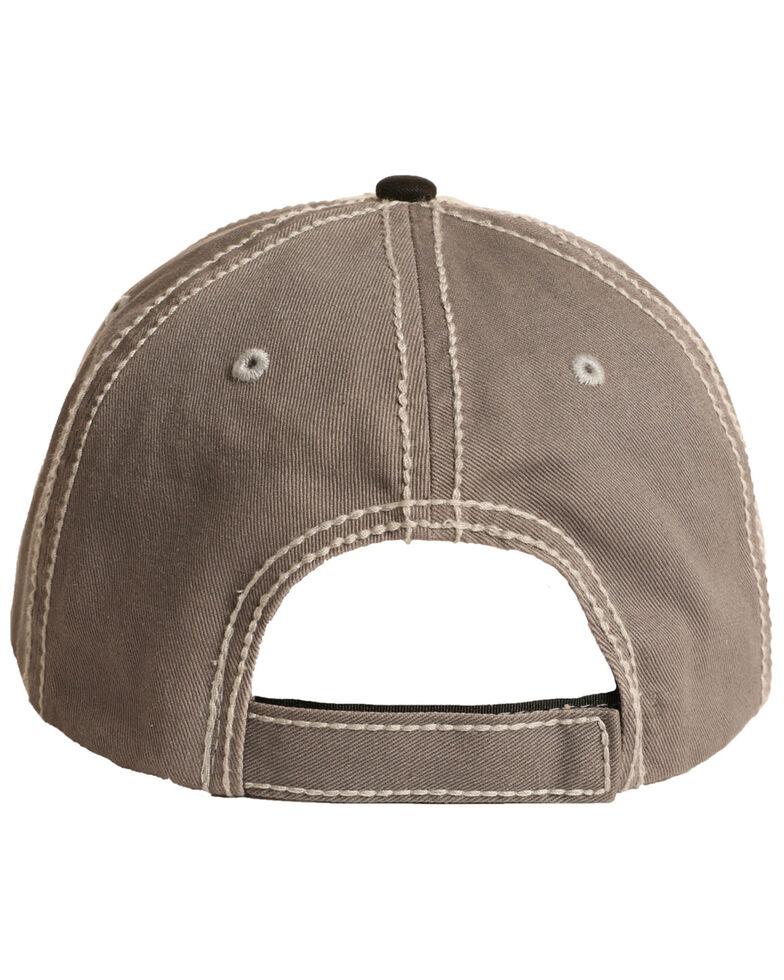 Rock & Roll Denim Men's Steer Head Logo Ball Cap , Brown, hi-res