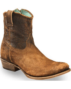 Corral Women's Lamb Abstract Boots - Round Toe, Chocolate, hi-res