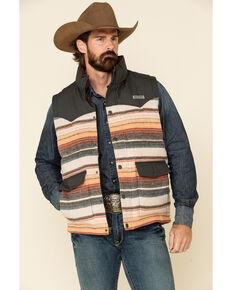 Cinch Men's Multi Striped Color Blocked Quilted Blanket Puffer Vest , Multi, hi-res