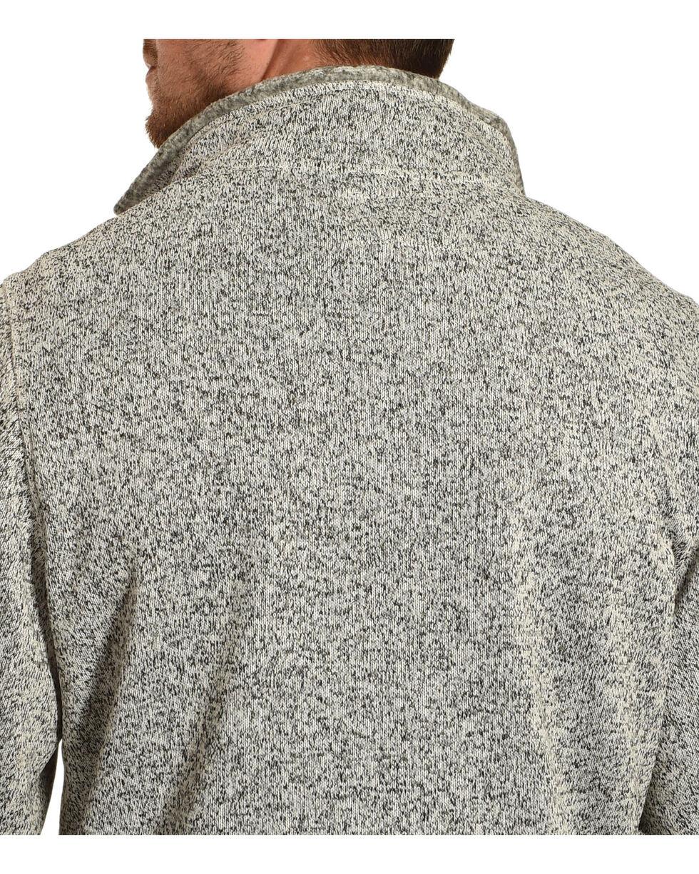 Victory Rugged Wear Men's Heather Knit Quarter Zip Pullover, Grey, hi-res