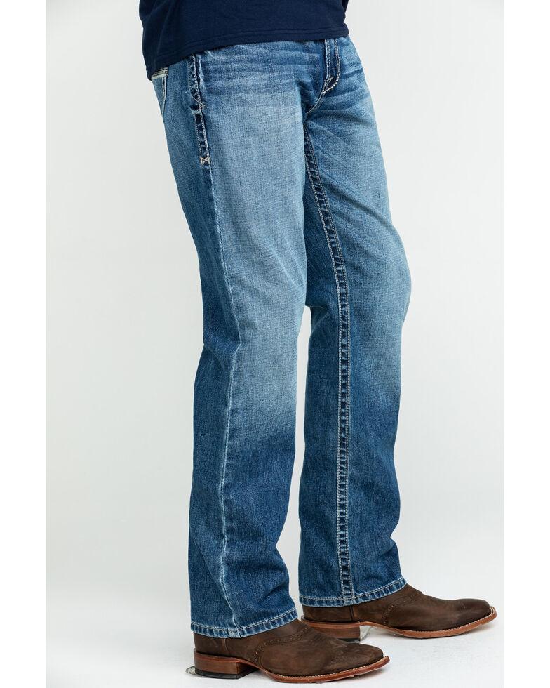 Ariat Men's M2 Blaze Low Relaxed Stackable Bootcut Jeans , Blue, hi-res