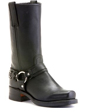 Frye Women's Belted Harness Boots, Black, hi-res