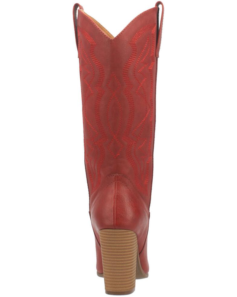 Code West Women's Kiki Western Boots - Round Toe, Red, hi-res