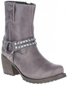 Harley Davidson Women's Tamori Harness Moto Boots - Soft Toe, Grey, hi-res