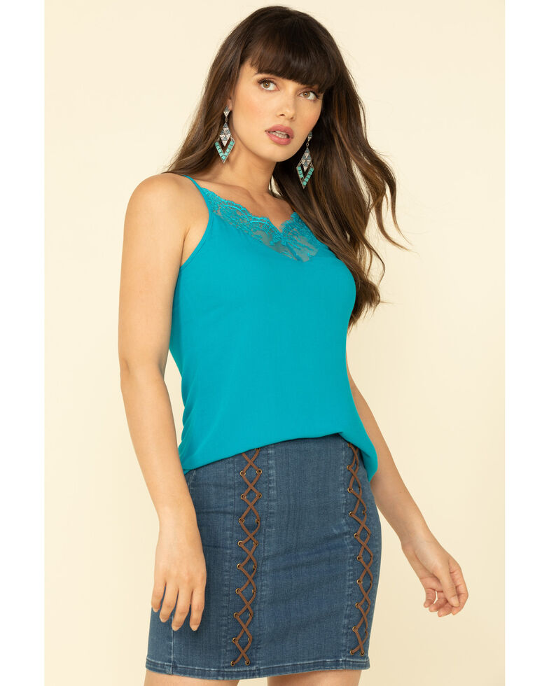 Idyllwind Women's Gone Wild Cami, Turquoise, hi-res