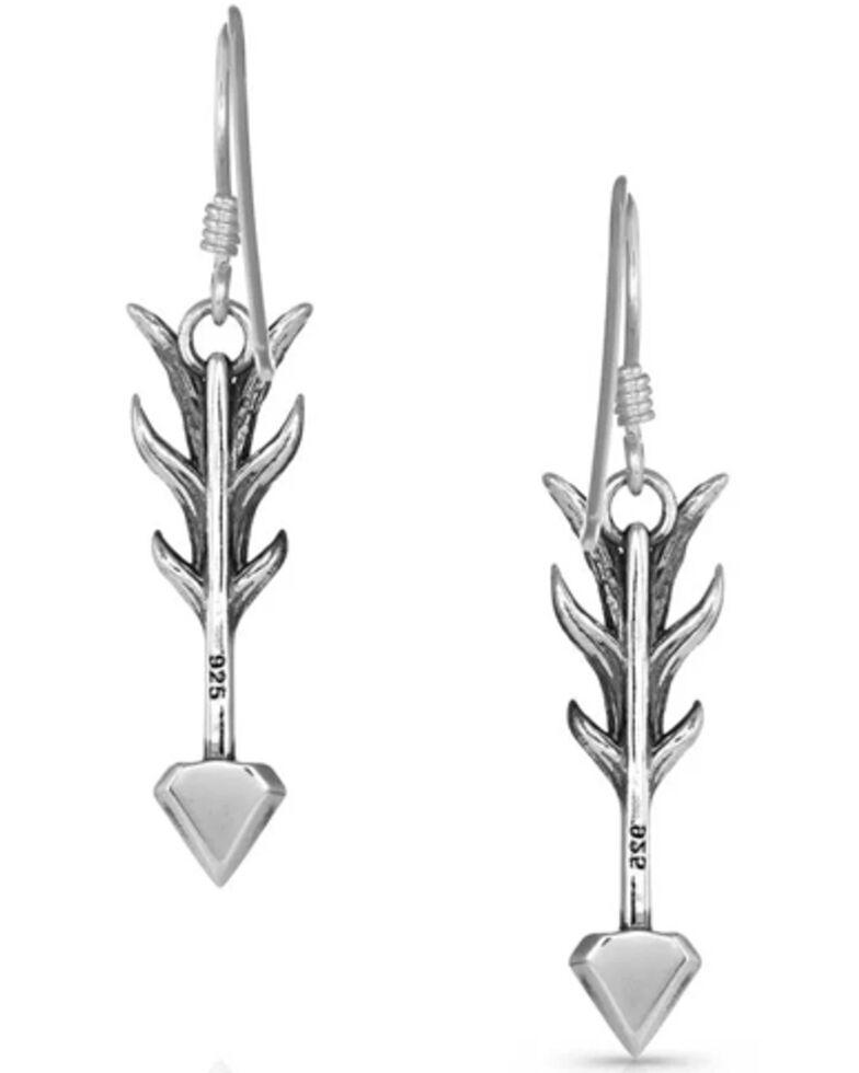 Montana Silversmiths Women's Kristy Titus Nature's Dart Arrow Earrings, Silver, hi-res