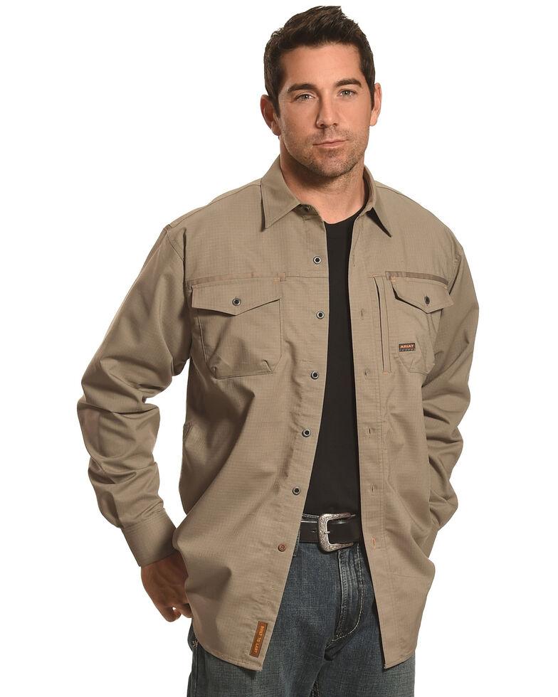 Ariat Men's Long Sleeve Work Shirt , Brown, hi-res