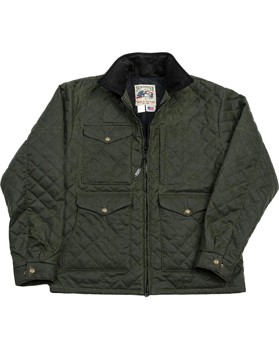 Schaefer Outfitter Men's Loden Blacktail Quilted Rangewax Jacket , Olive, hi-res