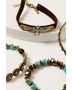 Shyanne Women's Golden Dreamcatcher Mixed Bracelet Set, Gold, hi-res