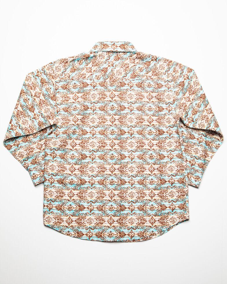 Rough Stock By Panhandle Boys' Gerona Vintage Aztec Print Long Sleeve Western Shirt , , hi-res