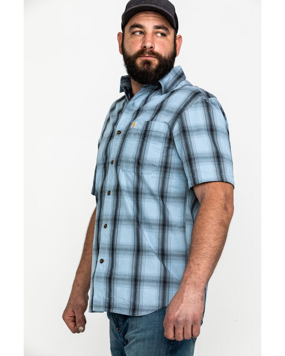Carhartt Men's Essential Plaid Short Sleeve Work Shirt , Blue, hi-res