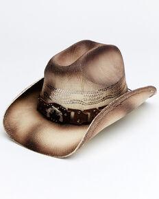 Cody James Men's Tan Obadiah Toyo Straw Western Hat , Tan, hi-res
