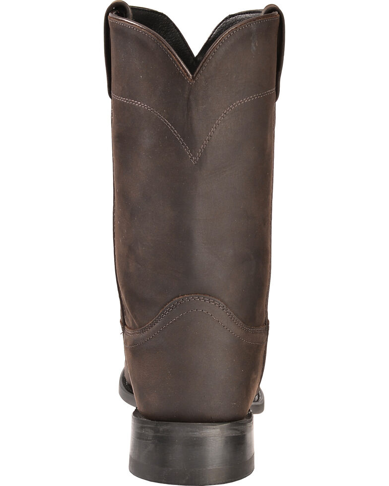Old West Leather Roper Cowboy Boots, Distressed, hi-res