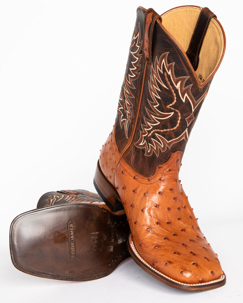 54f1a737bc8 Cody James Men s Full Quill Ostrich Exotic Boots - Square Toe