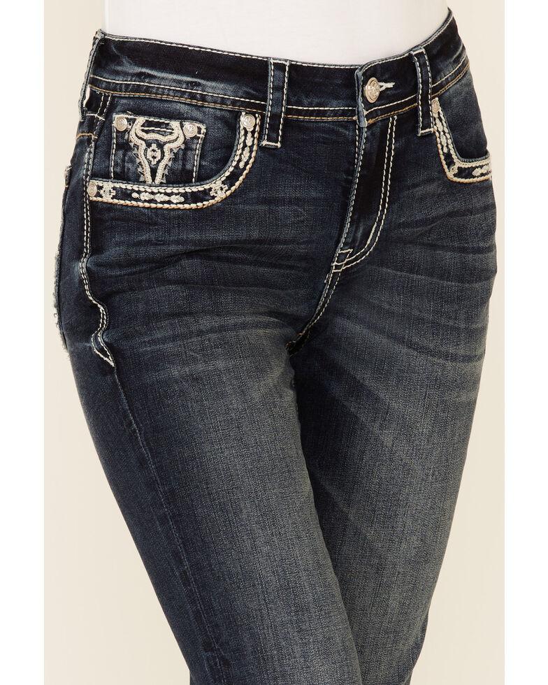 Grace in LA Women's Bullhead Bootcut Jeans, Blue, hi-res